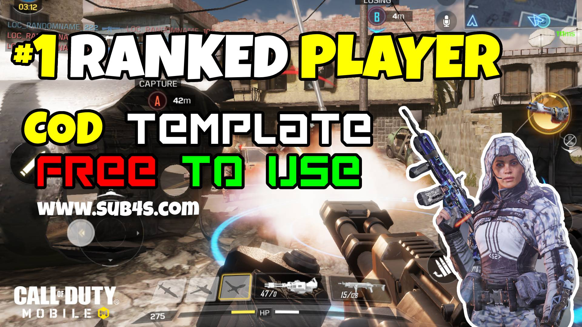 Call Of Duty Mobile YouTube Thumbnail Free to use